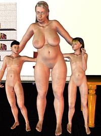 5 pics! Hot mom and her offspring are having 3d incest sex and the 3d family porn scene is great.