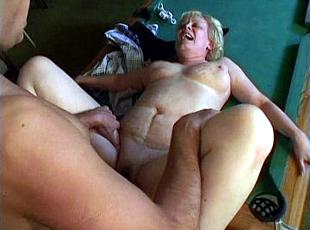 3 clips! Granny gets fucked on the billiard-table