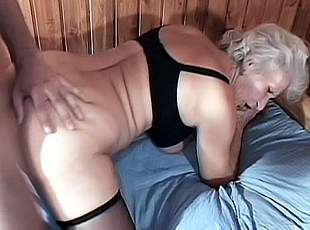 3 clips! Mature granny Erin lays on her side getting in perfect position for live spoon fucking