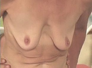 3 clips! Pretty-faced blonde granny pumping on top of huge meaty dick