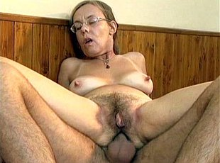 3 clips! Grandma swallows a cumshot