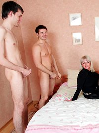 16 incest picts! Hot 51 y.o. mom gangbanged by 4 younger guys!