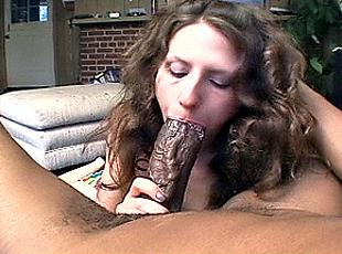 3 clips! Mom gobbling huge ebony cock