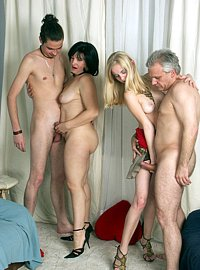 10 incest picts! The celebration of daddys birthday turns into a foursome family orgy!
