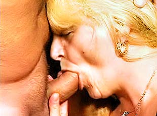 3 clips! Gorgeous Greta blows a huge pulsating dick to a filthy orgasm