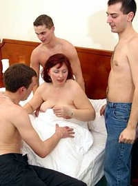 15 incest picts! Gangbang surprise for MILF!