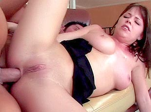 4 clips! Hot mom gets her tight ass cock filled
