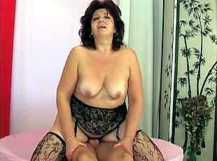 4 clips! Blonde GILF gets her plump jugs jizzed