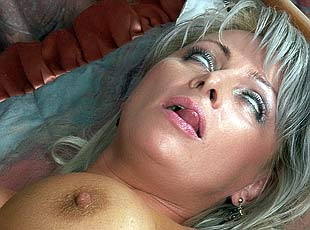 10 pics! Skinny son helps his raunchy full blonde mama satisfy her hunger for cock