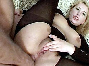 3 clips! Foxy Selene spreads her stocking clad thighs wide to welcome heaps of cock shoving in her ass