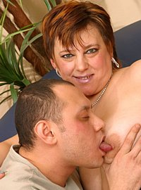 10 incest picts! Busty mature wanking off brothers dick and taking it in her pussy and mouth!